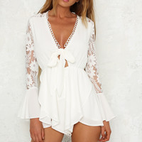 From Time Playsuit White