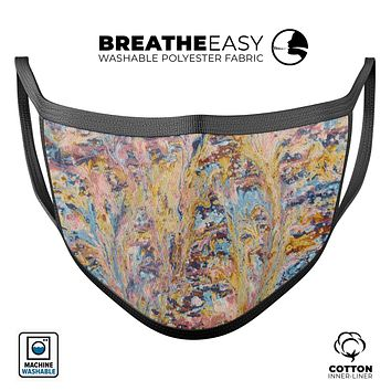 Abstract Wet Paint Color Paradise - Made in USA Mouth Cover Unisex Anti-Dust Cotton Blend Reusable & Washable Face Mask with Adjustable Sizing for Adult or Child