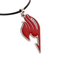 Charming Jewelry Alloy Fairy Tail Guild Sign Pendant Necklace 4 Colors Drop Shipping NL-0771