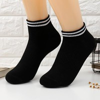 1 Pair Cotton Ankle Socks For Couples Lovers Men's Running Fitness Socks Male Men Sports Socks Short Black White CU893770