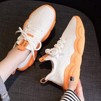 Summer Fashion Breathable Lace-up Running Shoes