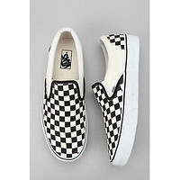 Vans Checkerboard Slip-On Sneaker Plaid black white