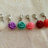 Rose dangles for living locket about 12mm