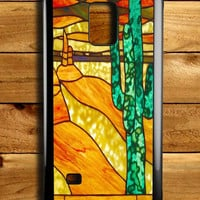 Cactus Stained Glass Samsung Galaxy Note 4 Case
