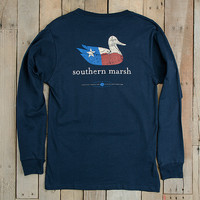 Southern Marsh Authentic Heritage Long Sleeve Tee- Texas