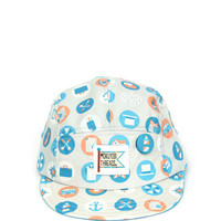 Buttons 5 Panel Hat