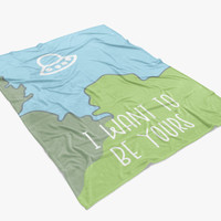 xfiles: i want to be yours - printed throw blanket