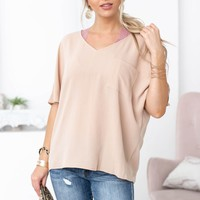 Dolman Front Pocket Top