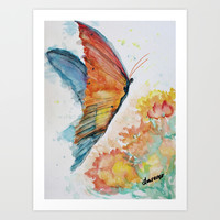 Lizzie's Butterfly Art Print by Liveart4evr
