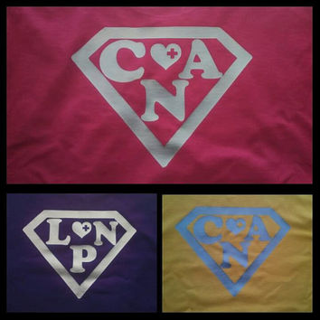 """Two- Sided """"SUPERMAN"""" logo with CNA/ LPN"""