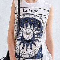 Letter Triangle Eye Sun Printed Round Neck Sleeveless Tank