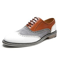Mens Contrasting Wingtip Oxford Shoes