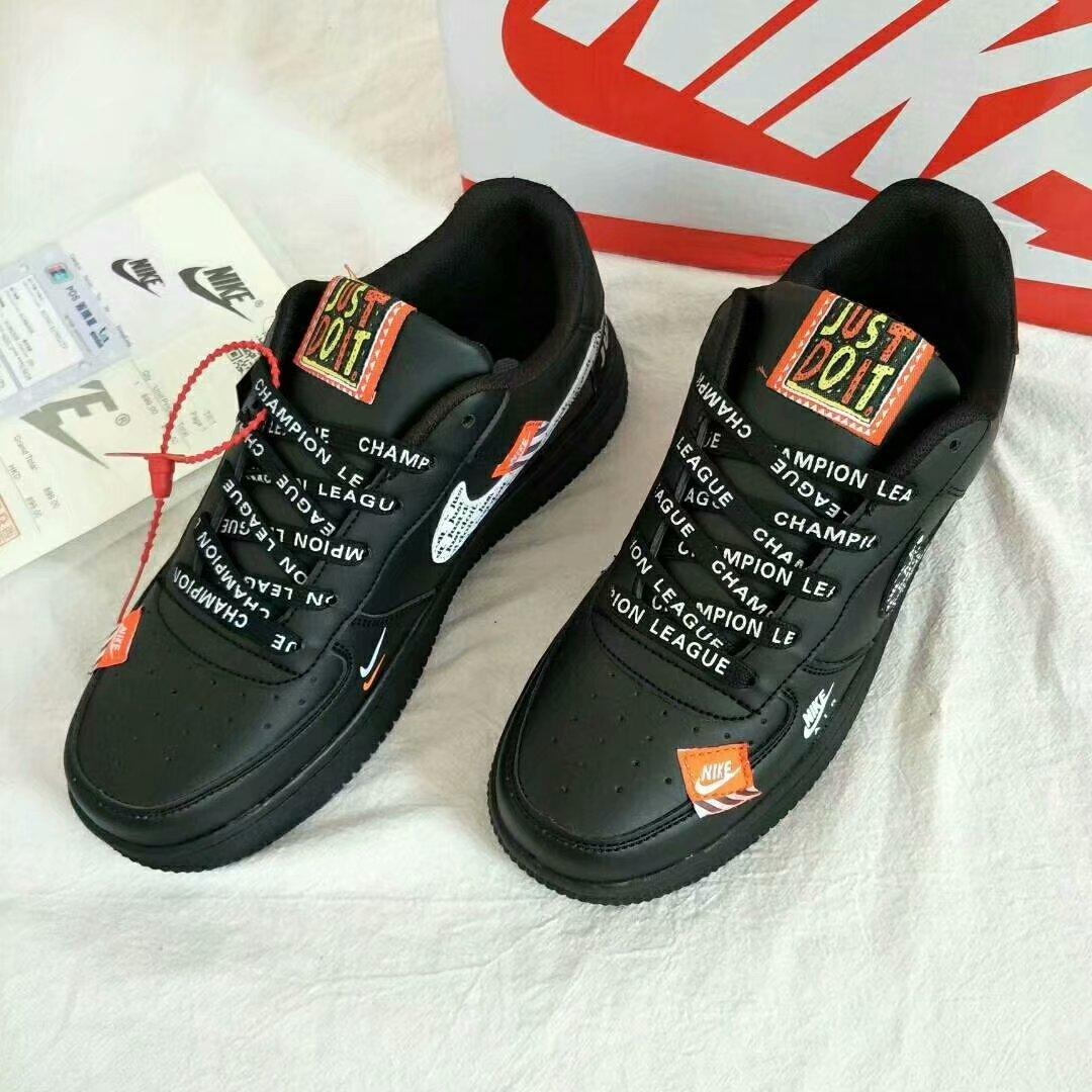 """Image of """"Nike Air Force 1 x Just Do It""""  Unisex Casual Fashion Letter Shoelace Plate Shoes Couple Sneakers"""