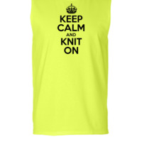 Keep Calm And Knit On - Sleeveless T-shirt