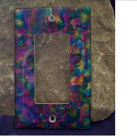 Wowza Multi Colored Alcohol Inked Decora Light Switch Plate Cover or Outlet Cover 423