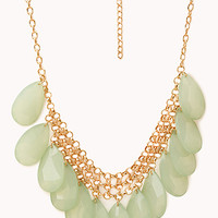 FOREVER 21 Show Off Faux Stone Necklace