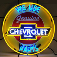 Chevrolet Genuine Parts Neon Sign-Chevy Mall
