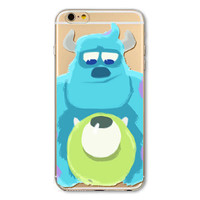 Monster Inc Painted Soft TPU Ultra Thin Transparent Phone Back Cover Case Shell for Apple iPhone 5 5s SE