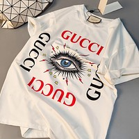 Hot33 Fashion casual print T-shirt women's clothing