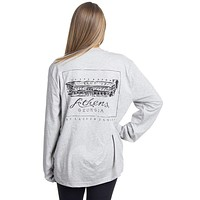 University of Georgia Long Sleeve Stadium Tee in Heather Grey by Lauren James