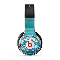 The Blue Spiked Orb Pattern V3 Skin for the Beats by Dre Pro Headphones