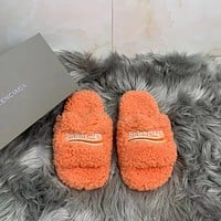 Balenciaga embroidered monogram slippers shoes