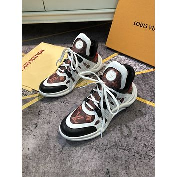 LV Louis Vuitton Women's Leather Archlight Sneakers Shoes