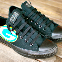 Hand Painted Green Bay Packers Converse
