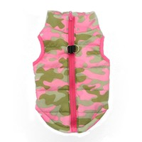 Dog coat Jacket Vest Pet Camouflage Cloth Dog Clothes Winter Pet Cotton Vest u6831