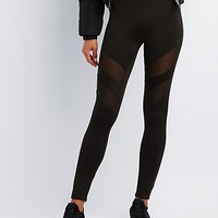 Mesh-Trim Leggings | Charlotte Russe