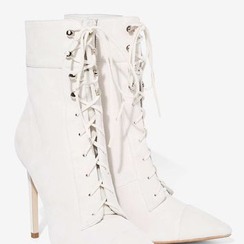 Jeffrey Campbell Elphaba Suede Boot - White