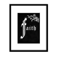Printable Art, Chalk Board Typography, Faith, Inspirational Quote, Religious Quote