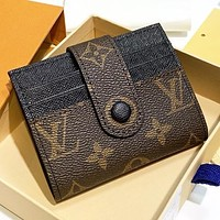 Hipgirls Louis Vuitton New fashion monogram leather wallet purse women