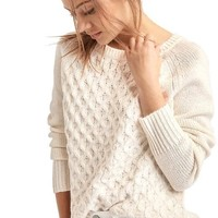 Honeycomb cable knit sweater | Gap