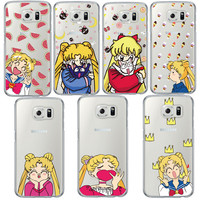 New Arrival Soft Silicon Lovely Watermelon Sailor Moon Crown Phone Cases For Samsung Galaxy S4 S5 S6 S7 Edge Plus Note 5 Fundas-in Phone Cases from Phones & Telecommunications on Aliexpress.com | Alibaba Group