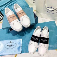 Prada Women's Leather Sneakers Shoes