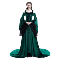 High Quality Medieval Dress Women Medieval Retro Vintage Dress Costume Renaissance Gothic Costume Gown Halloween Cosplay Costume