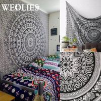 140X216cm Indian Bedding Outlet Tapestry Gery Beautiful Wall Art Tapestry Sheet Belgium New Bedding Home Decor