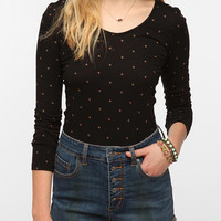 Urban Outfitters - Truly Madly Deeply Printed Double Scoop Long Sleeve Tee