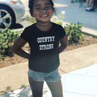 """COUNTRY STRONG"" Toddler Girl's Tee"