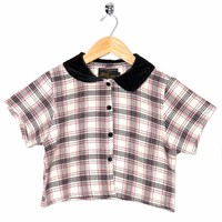 Motel Vintage Andy Blouse Full Check 0025 ONE SIZE