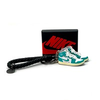 3D Sneaker Keychain- Air Jordan 1 High Turbo Green Pair