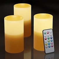 Real Looking Flickering LED Battery Flameless Candles With Timer and Remote USA