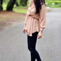 Queen B Blouse: Sand/Nude | Hope's