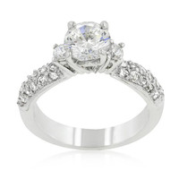 Classic Pave Bridal Ring, size : 09