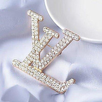 Louis Vuitton LV Women's Simple Diamond Brooch Jewelry