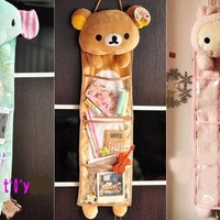 Rilakkuma San-x Wall Hanging Storage Bag 3 Pockets 3 Designs (bear) by E-busienss