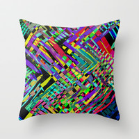 Hello Colour Throw Pillow by Glanoramay