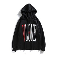 Longsleeved VLONE joint name limited Chinese Dragon V New York Fashion Week with the same hoodies