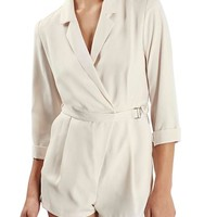 Topshop 'Alexa' Belted Notch Collar Surplice Romper | Nordstrom